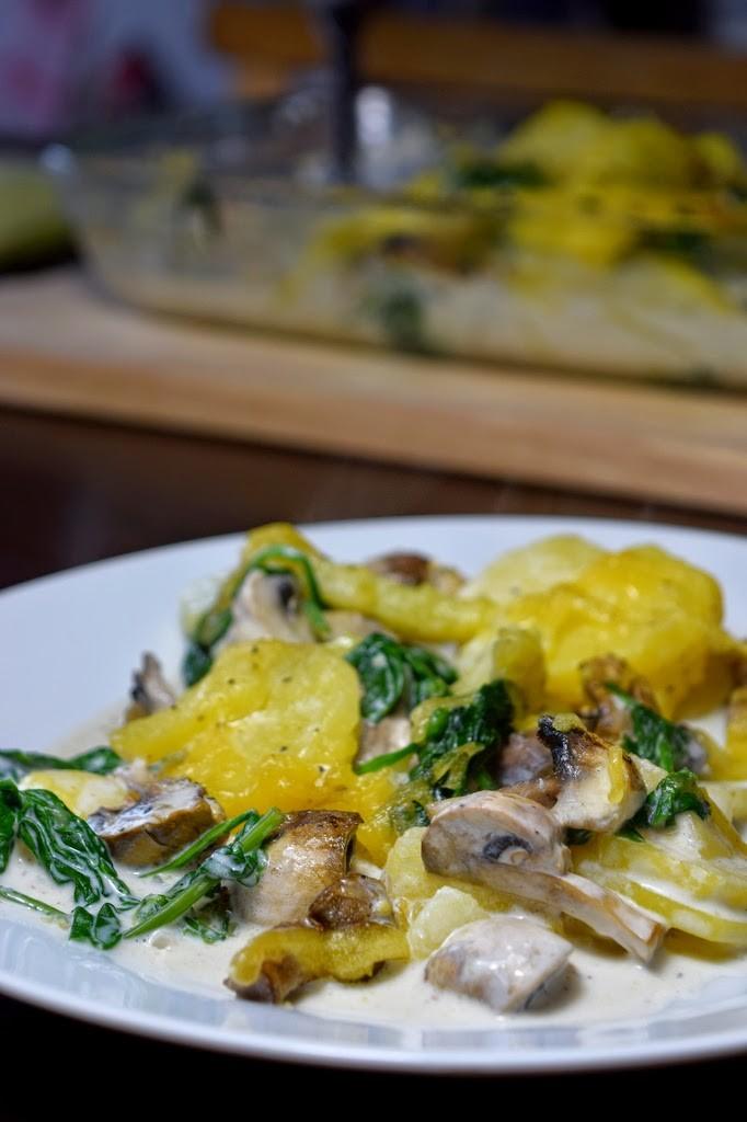 Kartoffel-Spinat-Auflauf - vegan
