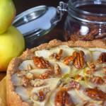 Veganer Apfelkuchen mit Pekannüssen