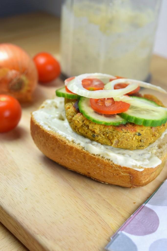 (Falafel)-Burger - vegan, schnell & einfach
