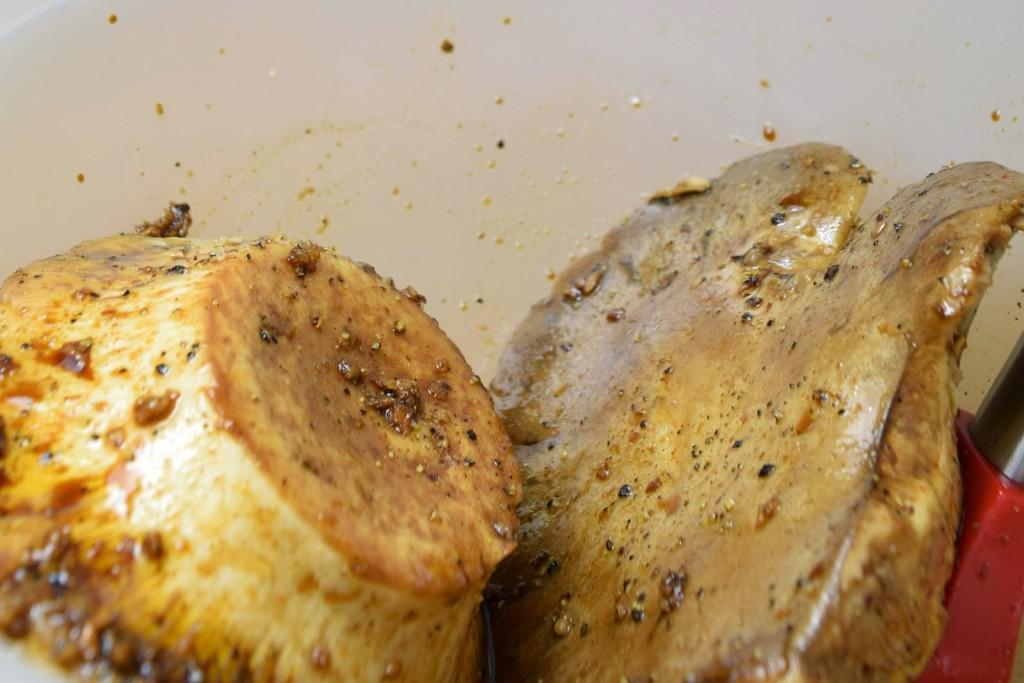 Marinierter Pilz-Burger als Kräuterseitlingen - vegan & einfach (grillen oder braten)
