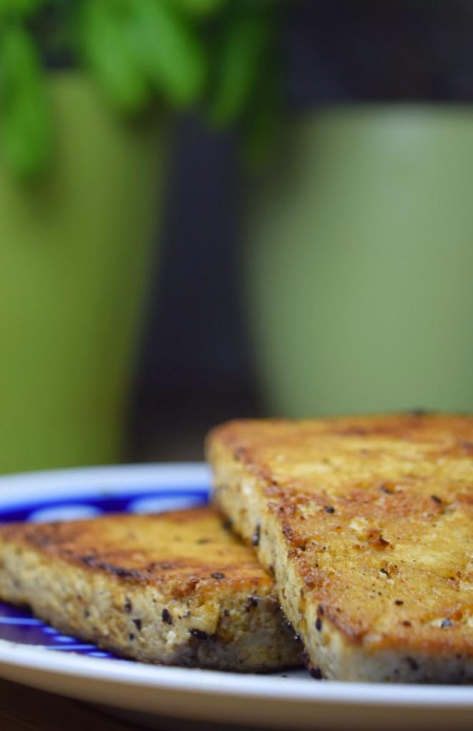 Veganer Grilltofu (Pfannetofu) - Marinierter Tofu