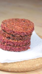 Pinker Bulgur-Burger