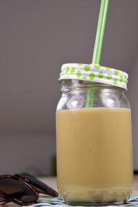 Haselnuss-Karamell-Eiskaffee (vegan)