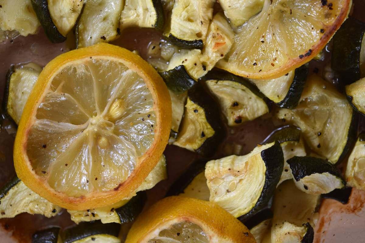 Zucchini nach dem Backen