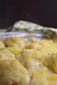 Kartoffelauflauf mit Blumenkohl (vegan)