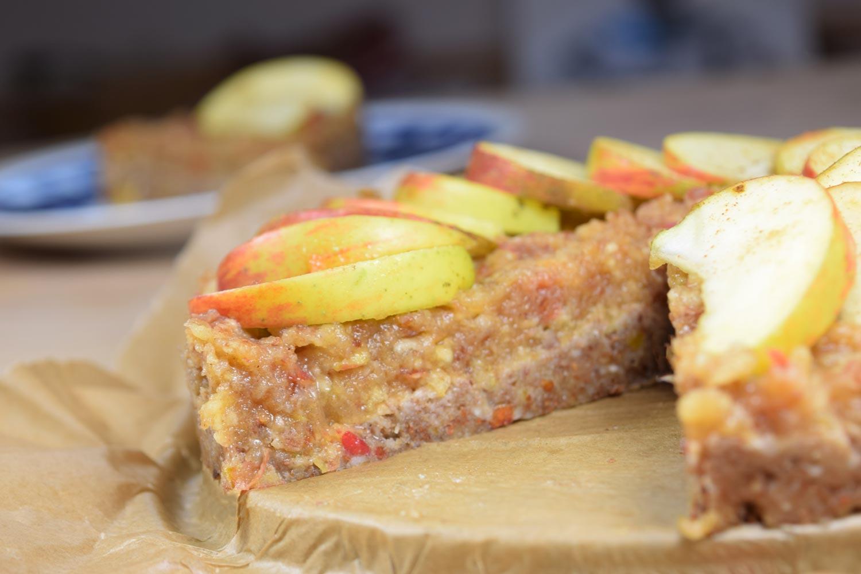 Veganer Apfelkuchen (Rohkost)