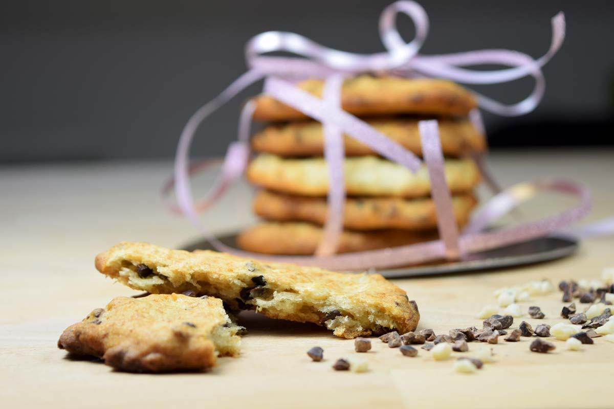 Schoko-Cookies mit Banane und Nuss (vegan)