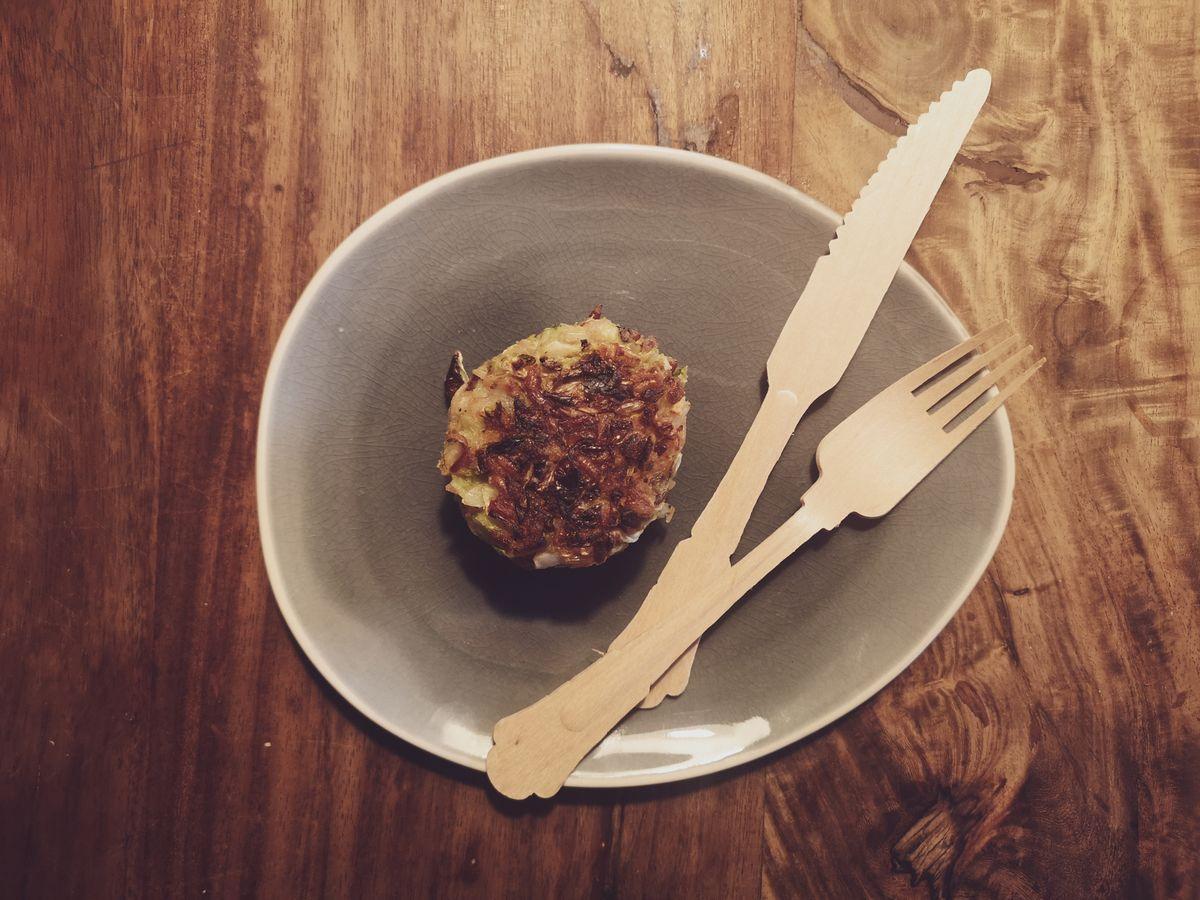 Easypeasy, schnell und lecker: Bratlinge mit Reis und Spitzkohl