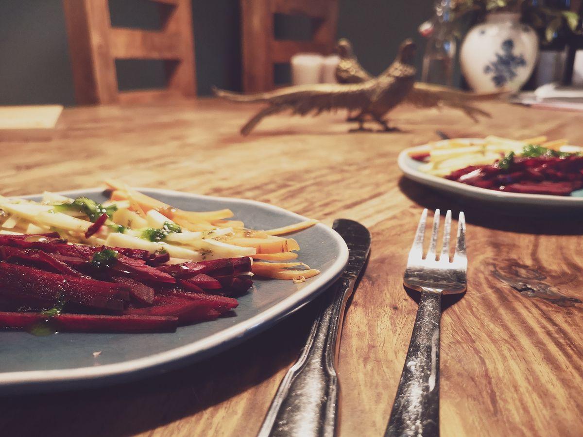 Feiner Rübensalat - roh & vegan