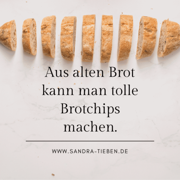 Brotchips aus altem Brot