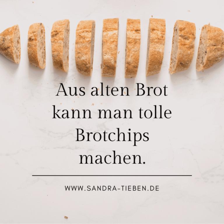 Brotchips aus altem Brot