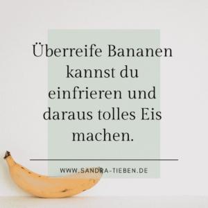 Eis aus überreifen Bananen