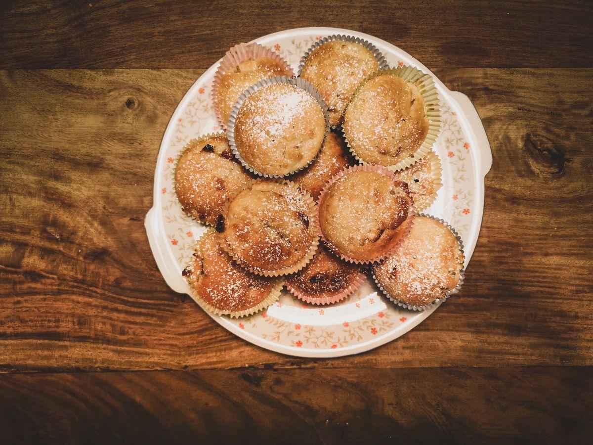 Einfache vegane Apfelmuffins